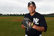 Sam Bishop, New Zealand Baseball team headshots, portraits and team photo sesison. Howick-Pakuranga Baseball Grounds, Lloyd Elsmore Park, Auckland. 2 November 2012. Photo: William Booth/photosport.co.nz