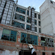 Built in 1919 and used for car body assembly for Buick and Cadillacs, Fisher used the building until 1974. The building's last use was in the mid-1990s as Carter Color.