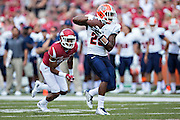 FAYETTEVILLE, AR - SEPTEMBER 5:  Sloan Spilier #25 of the UTEP Miners catches a pass out of the backfield during a game against the Arkansas Razorbacks at Razorback Stadium on September 5, 2015 in Fayetteville, Arkansas.  The Razorbacks defeated the Miners 48-13.  (Photo by Wesley Hitt/Getty Images) *** Local Caption *** Sloan Spilier