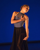 "Ashley Scott performing in ""Hooked"" choreographed by Emmeline Jansen at English National Ballet Choreographics at The Place Theatre, Euston, London on May 03 2013. Photo: Amber Hunt"