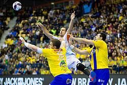 Vid Poteko #15 of RK Celje Pivovarna Lasko during handball match between RK Celje Pivovarna Lasko (SLO) and MAHB Montpellier (FRA) in Round 8 of EHF Champions League 2014/15, on December 6, 2014 in Arena Zlatorog, Celje, Slovenia. Photo by Urban Urbanc / Sportida