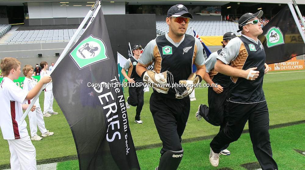 Peter McGlashan. Twenty20 International Cricket match between The New Zealand Black Caps and Pakistan at Eden Park on Boxing Day, Sunday 26 December 2010. Photo: Andrew Cornaga/photosport.co.nz