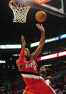 Dec. 10 2010; Phoenix, AZ, USA; Portland Trailblazers forward LaMarcus Aldridge (12) puts up a basket during the first half against the Phoenix Suns at the US Airways Center. Mandatory Credit: Jennifer Stewart-US PRESSWIRE.