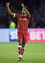 Bristol City's Korey Smith applauds the away fans at full time