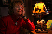 Chris Enss in her office at home in Grass Valley sits next to some old west items on her desk. Chris Enss specializes in historical books about great factual characters of the West. See her bibliography at her Web site, chrisenss.com.