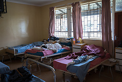 2 March 2017, Ma Mafefooane Valley, Lesotho: Post-natal ward. Saint Joseph's Hospital is a district hospital in the Ma Mafefooane Valley in Lesotho. The hospital was established in 1937 and is run as a Roman Catholic non-profit institution by the Christian Health Association of Lesotho. As a district hospital, it offers comprehensive healthcare including male, female, paediatric, Tuberculosis and maternity care. It is closely linked with the neighbouring Roma College of Nursing, which runs on similar premises as part of the same institution. Drug supplies are secured to the hospital by means of a Memorandum of Understanding with the government.