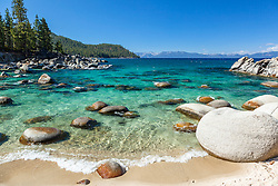 """Boulders at Secret Cove 5"" - These boulders shoreline were photographed at Secret Cove on the East Shore of Lake Tahoe."
