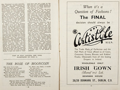 All Ireland Senior Hurling Championship Final,.Brochures,.07.09.1947, 09.07.1947, 7th September 1947,.Kilkenny 0-14, Cork 2-7,.Minor Galway v Tipperary, .Senior Kilkenny v Cork, .Croke Park,..Poems, The Rose of Mooncoin, ..Advertisements, Certistyle Irish Gown,