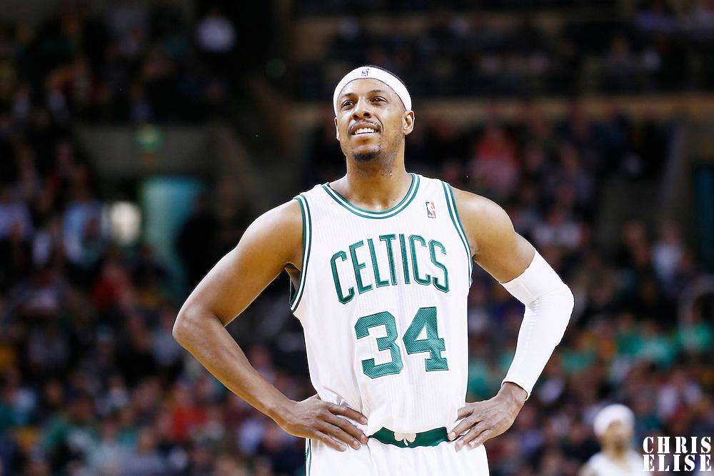 19 December 2012: Boston Celtics small forward Paul Pierce (34) is seen during the Boston Celtics 103-91 victory over the Cleveland Cavaliers at the TD Garden, Boston, Massachusetts, USA.