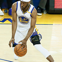 04 June 2017: Golden State Warriors guard Ian Clark (21) is seen during the Golden State Warriors 132-113 victory over the Cleveland Cavaliers, in game 2 of the 2017 NBA Finals, at the Oracle Arena, Oakland, California, USA.