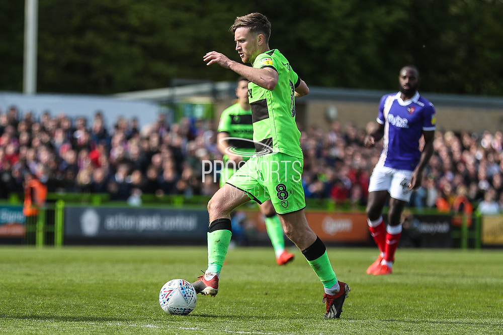 Forest Green Rovers Dayle Grubb(8) runs forward during the EFL Sky Bet League 2 match between Forest Green Rovers and Exeter City at the New Lawn, Forest Green, United Kingdom on 4 May 2019.