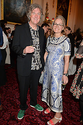 JAMES MAY and SARAH FRATER at the Audi Ballet Evening at The Royal Opera House, Covent Garden, London on 23rd April 2015.