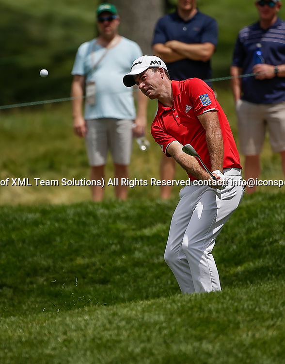 POTOMAC, MD - JULY 01:  Nick Taylor chips onto the 6th green during the third round of the Quicken Loans National at TPC Potomac at Avenel Farm in Potomac, MD.(Photo by Justin Cooper/Icon Sportswire)