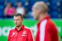 BREDA - NAC - Jong Ajax , Voetbal , Seizoen 2015/2016 , Jupiler league , Rat Verlegh Stadion , 21-08-2015 , Jong Ajax trainer Andries Ulderink (l) en Jong Ajax assistent trainer Jaap Stam (r)