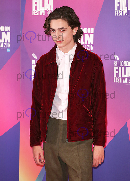 Timothée Chalamet, BFI London Film Festival Photocall - Call Me By Your Name, The May Fair Hotel, London UK, 09 October 2017, photo by Brett D. Cove