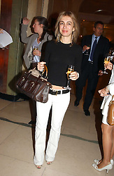 SAHAR HASHEMI at the 2005 Clicquot Award - Business Woman of The Year award ceremony held at Claridge's, Brook Street, London W1 on 28th April 2005.