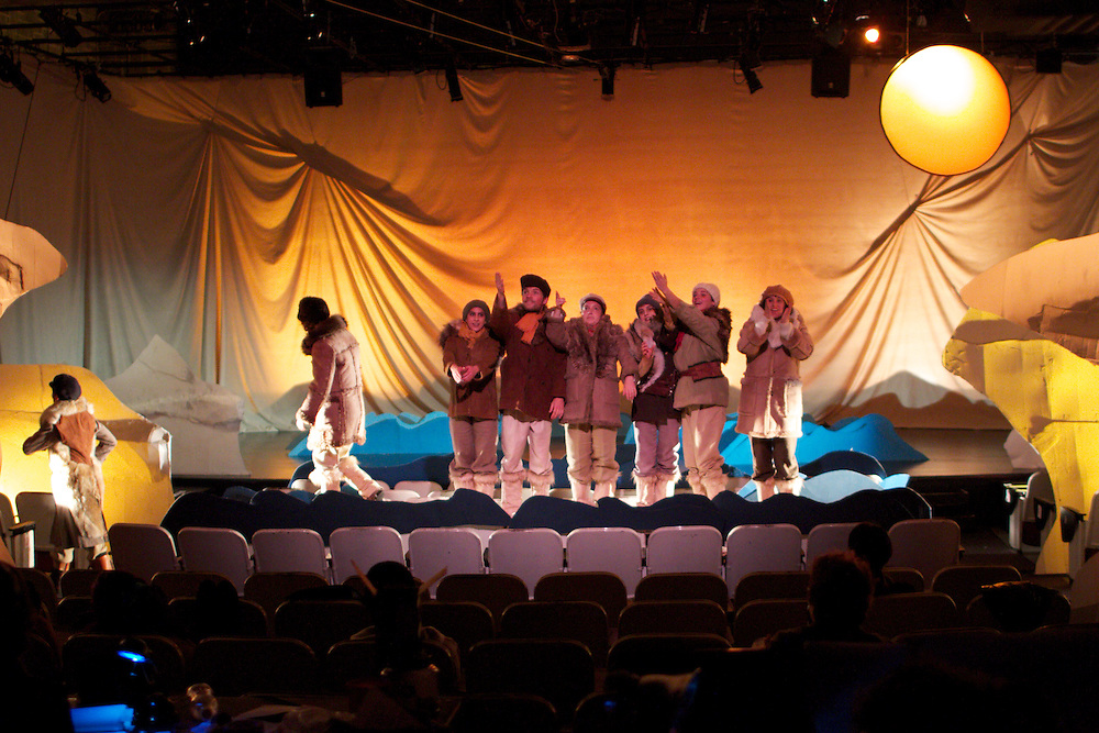 "The Explorer: A journey to the edge of the world..Directed by Cathia Pagotto..A new piece based on the themes of arctic exploration examines the reality of a harsh landscape and our romantic notions of adventure and discovery...Description:..On May 19, 1845 Sir John Franklin embarked on an expedition to the Arctic that was the best prepared in the history of exploration. On board was a crew of 129 hardy navy seamen, 3 years worth of food, 1,700 books, and supplies to meet every imaginable need. Less than a year later, Franklin and his ship disappeared.. .The Explorer is a new theatre piece that uses Franklin, and life aboard his ill-fated ship, as a window into the world of the Arctic, a place that lives, for the most part, in our imaginations: the mythic edge of the world, a place of awe-inspiring vastness, brutality, and mystery.. .Parallel to the story of Franklin's ship, another story is told: that of lesser-known inhabitants of the Far North, the Hyperboreans. Mythical creatures said to live 1,000 years in a state of paradise, the Hyperboreans do not experience age, illness, or battle. Their fate changes when Franklin's ship crosses their path.. .Created by Pagotto and the student collective, The Explorer is told through images, movement, sound and environment: a narrative installation, with scenes that are tableaux vivants, moving dioramas, lyrical pieces of performance art. The use of text is minimal, one element of many...About the director:. .With a background in visual arts and design, Cathia Pagotto has been exploring methods of visual narrative for the last ten years. Inspired by the worlds of dance, silent film, melodrama, and performance art among others, Pagotto aims to offer work that is ""moving, magical, heartfelt, and honest."" She has worked with numerous dance, theatre, and film productions worldwide."