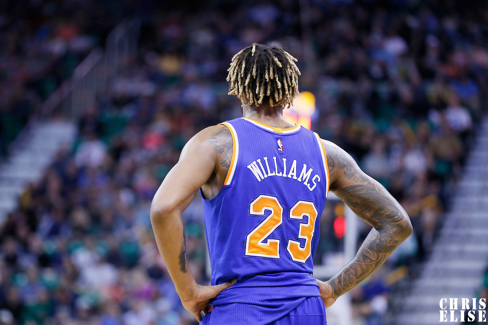09 December 2015: New York Knicks forward Derrick Williams (23) is seen during the Utah Jazz 106-85 victory over the New York Knicks, at the Vivint Smart Home Arena, Salt Lake City, Utah, USA.