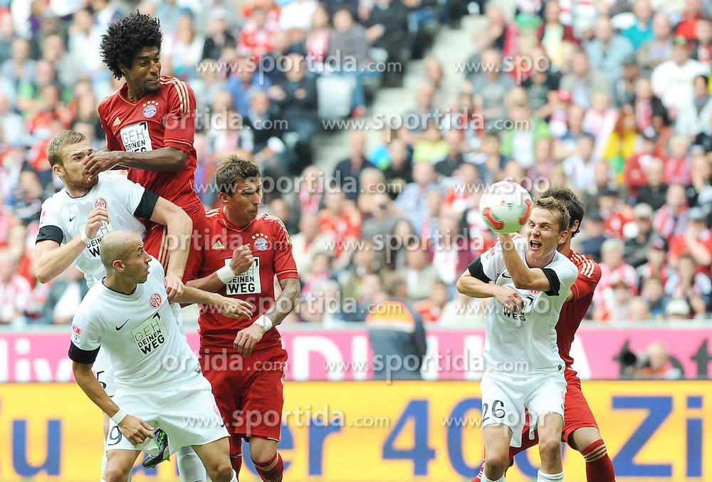15.09.2012, Allianz Arena, Muenchen, GER, 1. FBL, FC Bayern Muenchen vs 1. FSV Mainz 05, 03. Runde, im Bild DANTE (FC Bayern Muenchen) springt am hoechsten. // during the German Bundesliga 03rd round match between FC Bayern Munich and 1. FSV Mainz 05 at the Allianz Arena, Munich, Germany on 2012/09/15,, , , , . EXPA Pictures © 2012, PhotoCredit: EXPA/ Eibner/ Wolfgang Stuetzle..***** ATTENTION - OUT OF GER *****