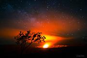 Milky Way, Halemaumau Crater, Kilauea Volcano, HVNP, Hawaii Volcanoes National Park, The Big Island of Hawaii