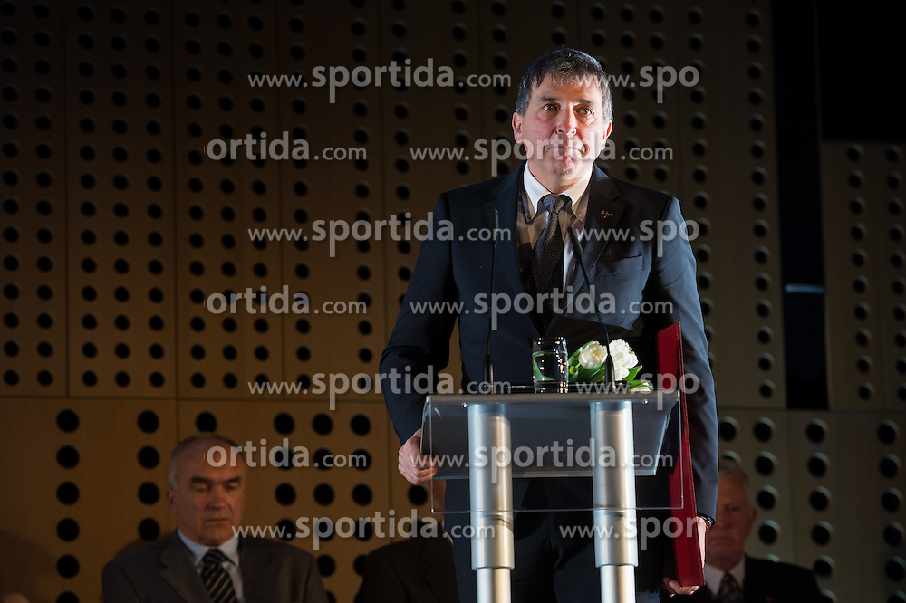 Gabriel Bros at 52th Annual Awards of Stanko Bloudek for sports achievements in Slovenia in year 2016 on February 14, 2017 in Brdo Congress Center, Brdo, Ljubljana, Slovenia.  Photo by Martin Metelko / Sportida