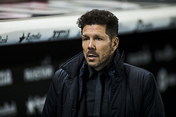 December 22, 2017 - Barcelona, Spain - BARCELONA, SPAIN - DECEMBER 22:  Diego Simeone from Argentina of Atletico de Madrid during the match of La Liga Santander between RCD Espanyol v Atletico de Madrid, at RCD Stadium in Barcelona on 22 of December, 2017. (Credit Image: © Xavier Bonilla/NurPhoto via ZUMA Press)
