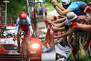 Ilnur Zakarin (RUS - Team Katusha - Alpecin) during the 105th Edition of Tour de France 2018, cycling race stage 20, time trial, Saint Pee sur Nivelle - Espelette (31 km) on July 28, 2018 in Espelette, France - Photo Kei Tsuji / BettiniPhoto / ProSportsImages / DPPI