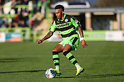 Forest Green Rovers Keanu Marsh-Brown(7) on the ball during the EFL Sky Bet League 2 match between Forest Green Rovers and Morecambe at the New Lawn, Forest Green, United Kingdom on 28 October 2017. Photo by Shane Healey.