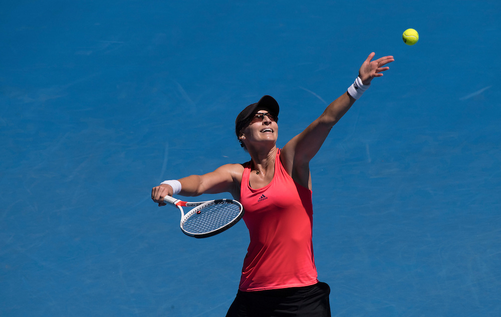 Mirjana Lucic-Baroni of Croatia on day ten of the 2017 Australian Open at Melbourne Park on January 25, 2017 in Melbourne, Australia.<br /> (Ben Solomon/Tennis Australia)