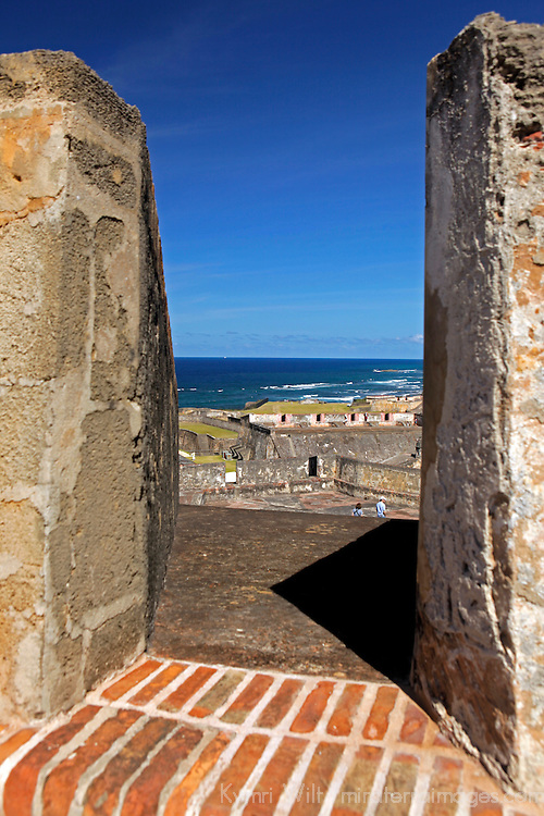 USA, Puerto Rico, San Juan. View from the San Cristobal Fort in San Juan, Puerto Rico.