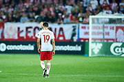 Lublin, Poland - 2017 June 16: Bartosz Kapustka from Poland U21 walks on the pitch while Poland v Slovakia match during 2017 UEFA European Under-21 Championship at Lublin Arena on June 16, 2017 in Lublin, Poland.<br /> <br /> Mandatory credit:<br /> Photo by &copy; Adam Nurkiewicz / Mediasport<br /> <br /> Adam Nurkiewicz declares that he has no rights to the image of people at the photographs of his authorship.<br /> <br /> Picture also available in RAW (NEF) or TIFF format on special request.<br /> <br /> Any editorial, commercial or promotional use requires written permission from the author of image.
