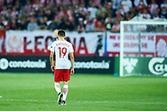Lublin, Poland - 2017 June 16: Bartosz Kapustka from Poland U21 walks on the pitch while Poland v Slovakia match during 2017 UEFA European Under-21 Championship at Lublin Arena on June 16, 2017 in Lublin, Poland.<br /> <br /> Mandatory credit:<br /> Photo by © Adam Nurkiewicz / Mediasport<br /> <br /> Adam Nurkiewicz declares that he has no rights to the image of people at the photographs of his authorship.<br /> <br /> Picture also available in RAW (NEF) or TIFF format on special request.<br /> <br /> Any editorial, commercial or promotional use requires written permission from the author of image.
