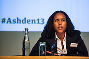 Cabeólica: Cape Verde island leads the way in wind power. Ana Monteiro, Head of Environment, Social and Administrative Department<br />  speaking at the Ashden conference, 2013. Royal Society, central London.