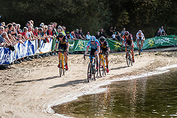 Group behind the leaders with Michael VANTHOURENHOUT (BEL) during the Men Elite race at the 2018 Telenet Superprestige Cyclo-cross #1 Gieten, UCI Class 1, Gieten, Drenthe, The Netherlands, 14 October 2018. Photo by Pim Nijland / PelotonPhotos.com | All photos usage must carry mandatory copyright credit (Peloton Photos | Pim Nijland)