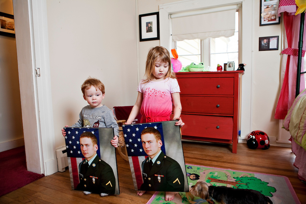 "Brigette Cain, 27 years old from Oregon, IlHusband Norman, 23 yrs old, killed in Afghanistan, IED explosive, in March, 2009. <br /> Images part of the ongoing series by Gina LeVay.  The Other War Project is a photo and video project that focuses on young military widows across the country to create an honest and intimate portrait of the ""other side"" of the conflicts in Iraq and Afghanistan.  LeVay's goal is to work with as many women and men as possible to create an extensive and diverse visual portrait of our country now."