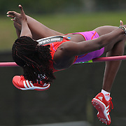 Doreen Amata, Nigeria, in action during the Women's High Jump event at the Diamond League Adidas Grand Prix at Icahn Stadium, Randall's Island, Manhattan, New York, USA. 25th May 2013. Photo Tim Clayton