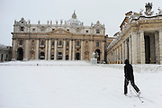 Snow in St Peter Square.