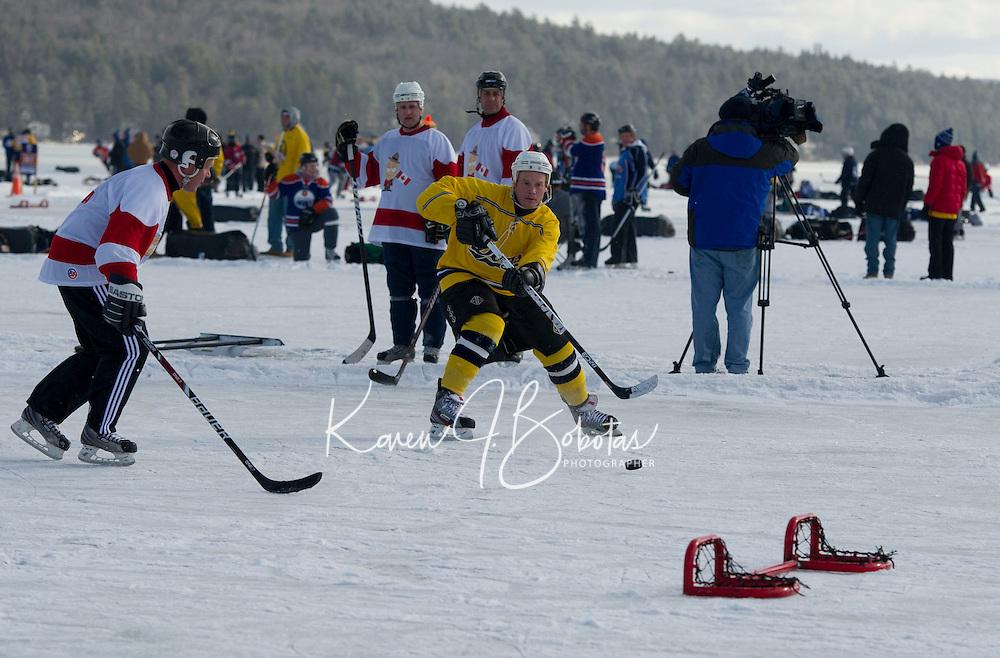 Pond Hockey Classic on Meredith Bay February 1, 2013.