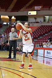06 December 2008: Kristi Cirone takes a 3 point shot during a game between the Eastern Michigan Eagles and the Illinois State Redbirds on Doug Collins Court inside Redbird Arena on the campus of Illinois State University, Normal Il.