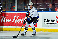 KELOWNA, BC - MARCH 11: Mitch Prowse #5 of the Victoria Royals skates with the puck against the Kelowna Rockets at Prospera Place on March 11, 2020 in Kelowna, Canada. (Photo by Marissa Baecker/Shoot the Breeze)