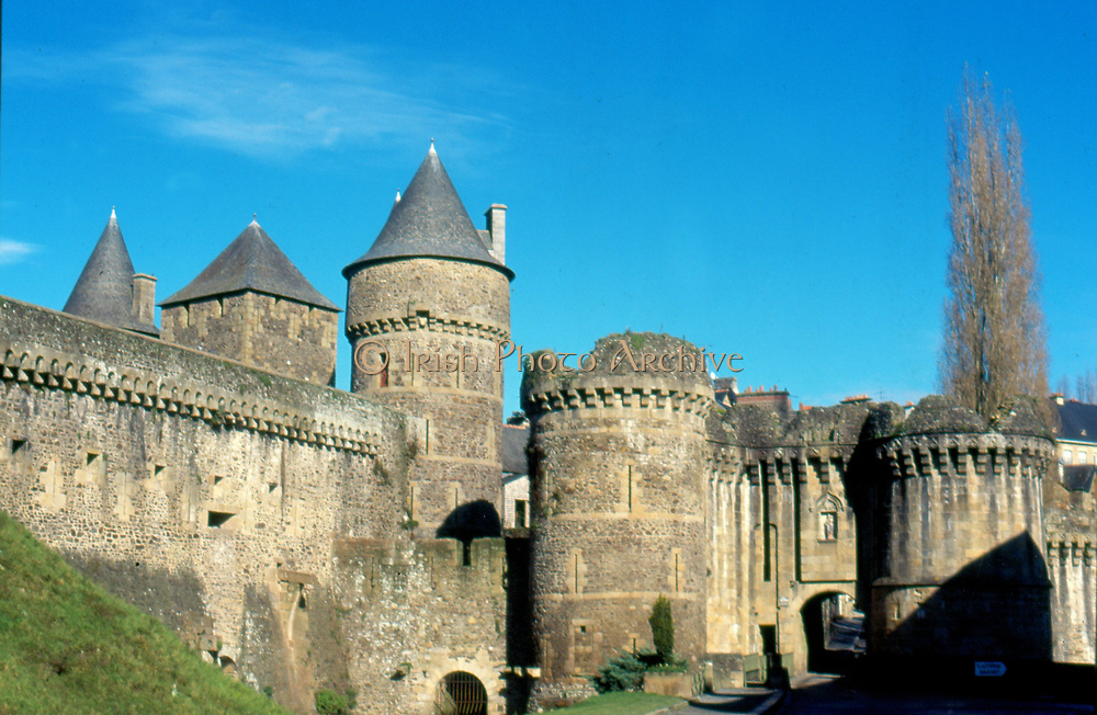 France, Brittany.  Fougeres Chateau.