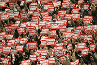 Photo: Aidan Ellis.<br /> Manchester United v Charlton Athletic. The Barclays Premiership. 07/05/2006.<br /> Charlton fans show there appreciation for Alan Curbishley