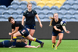 Jaz Clarke of Worcester Valkyries  during the pre match warm up - Mandatory by-line: Craig Thomas/JMP - 30/09/2017 - RUGBY - Sixways Stadium - Worcester, England - Worcester Valkyries v Saracens Women - Tyrrells Premier 15s