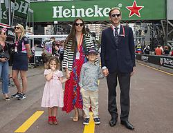Andrea Casiraghi, Tatiana Santo Domingo, Alexandre Andrea Stefano Casiraghi, India Casiraghi stroll along the pit lane at the 77th Monaco Grand Prix, Monaco on May 26th, 2019. Photo by Marco Piovanotto/ABACAPRESS.COM