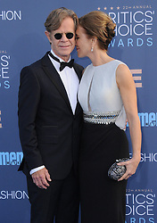 William H. Macy, Felicity Huffman  bei der Verleihung der 22. Critics' Choice Awards in Los Angeles / 111216