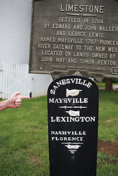 Picture Kentucky 2014 scouting trip with David Stephenson, Friday, Sept. 12, 2014 at Downtown Area in Maysville.
