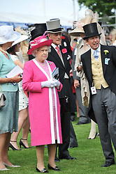 HM THE QUEEN & HRH THE DUKE OF EDINBURGH at the Investec Derby at Epsom Racecourse, Epsom Downs, Surrey on 4th June 2011.