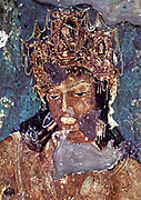 Ajanta Caves India.  Cave painting dating from the second century BCE 2