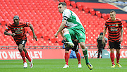 Liam King fires in from the spot during the FA Carlsberg Trophy Final match between North Ferriby United and Wrexham FC at Eon Visual Media Stadium, North Ferriby, United Kingdom on 29 March 2015. Photo by Michael Hulf.