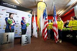 HUCKABY Brenna, ROUNDY Nicole, Snowboarder Cross, 2015 IPC Snowboarding World Championships, La Molina, Spain